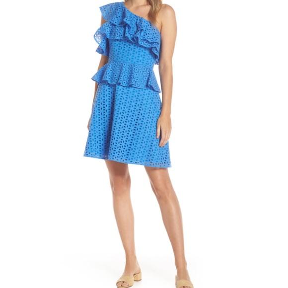 Lily Pulitzer Josey Eyelet One-Shoulder Dress